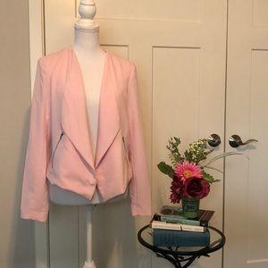 H &M Divided Pink Jacket US 12 EUC